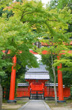 Red torii gate Stock Images