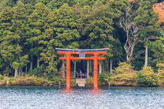 Red Torii gate. Stock Photos