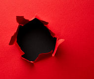Red torn paper Royalty Free Stock Image