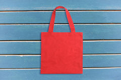 Red tote bag Royalty Free Stock Photos