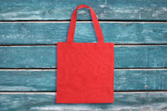 Red tote bag Stock Photography