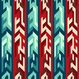 Red totem seamless pattern Stock Photography