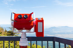 Tourism binocular from Fuji san Stock Photos