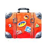 Red tourist suitcase royalty free stock images