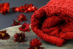 Red towel Royalty Free Stock Photos