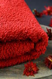 Red towel Stock Images