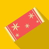Red towel icon, flat style Royalty Free Stock Images