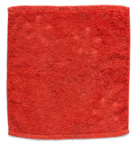 Red towel isolated on white Stock Photography