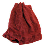 Red towel on white background Royalty Free Stock Photo