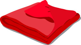 Red towel  on white. Web icon red towels. Vector Illustration of a cartoon Linen icon  on white background Stock Photo