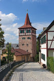 The Red Tower Stock Photo