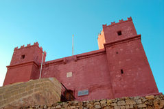 Red tower. St. Agatha's Tower in Malta. It is also known as the Red Tower Royalty Free Stock Photography