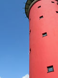 Red tower. And blue sky Stock Image