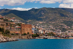 Red Tower in Alanya Royalty Free Stock Image