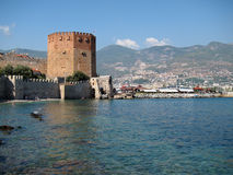 The Red Tower, Alanya Stock Photos
