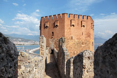 Red Tower of Alanya Stock Photos