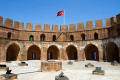 Red Tower in Alanya - Turkey Stock Photography