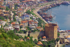 Red tower in Alanya, Turkey Stock Photography