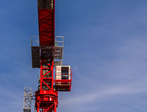 Red Tower Construction Crane Royalty Free Stock Photography