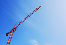 Red Tower Crane Stock Photography
