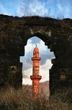 Red tower in Daulatabad fort Royalty Free Stock Images