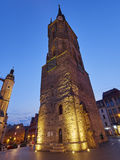 The Red Tower in Halle an der Saale, Germany Royalty Free Stock Photo