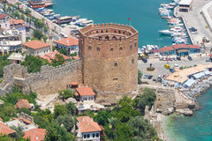 Red Tower (Kizil Kule). Alanya. Turkey Royalty Free Stock Photo