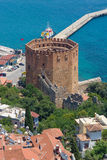 Red Tower (Kizil Kule). Alanya. Turkey Stock Photography