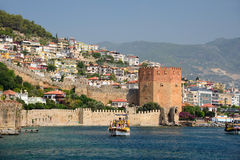 Red Tower (Kizilkule) in Alanya, Turkey Stock Image