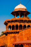 Red tower of Taj Mahal complex in Agra, India Royalty Free Stock Photography