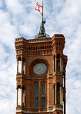 The Red Town Hall (German: Rotes Rathaus) - Berlin Stock Image