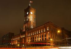 Red Town Hall (Rotes Rathaus) in Berlin, Germany stock photo