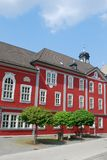Town hall suhl. Red town hall suhl thuringia germany royalty free stock photo