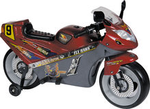 Red toy motorcycle Stock Photography