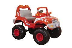 Red toy car royalty free stock photography