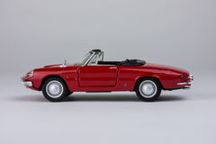 Red Toy Car. Red Toy Classic Car Single Royalty Free Stock Image