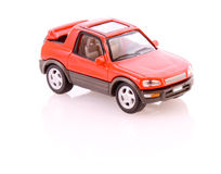 Red toy car isolated Royalty Free Stock Photos