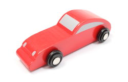 Red toy car isolated on white background Stock Photography