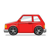 Red toy car vector illustration Stock Photos