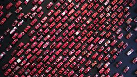 Red toy cars background Stock Photography