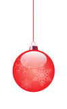 Red toy. For decoration of a Christmas fir-tree. vector EPS 10 Stock Photos