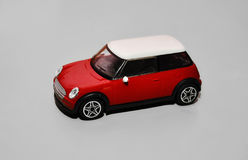 Red toy mini car Royalty Free Stock Photos