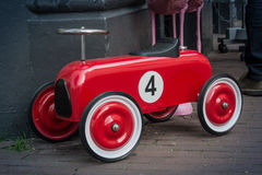 Red Toy Race Car Number Four Royalty Free Stock Photography
