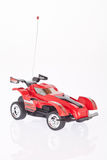 Red toy race car on white background Royalty Free Stock Photo