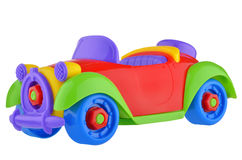 Red toy racing car. Isolated on a white background Royalty Free Stock Images