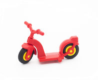 Red toy scooter Royalty Free Stock Image