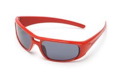Red toy sunglasses Royalty Free Stock Photo