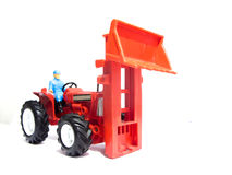Red toy tractor Stock Photography