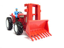 Red toy tractor Stock Image