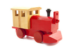 Red toy train Royalty Free Stock Photo